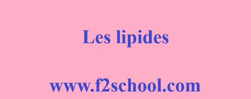 Photo : Lipides : Cours et TD corrigés