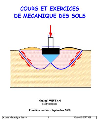 photo: cours et exercices sur la mécanique des sols 1