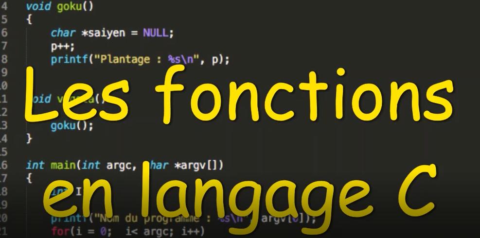 Les fonctions en langage C - Programmation en C