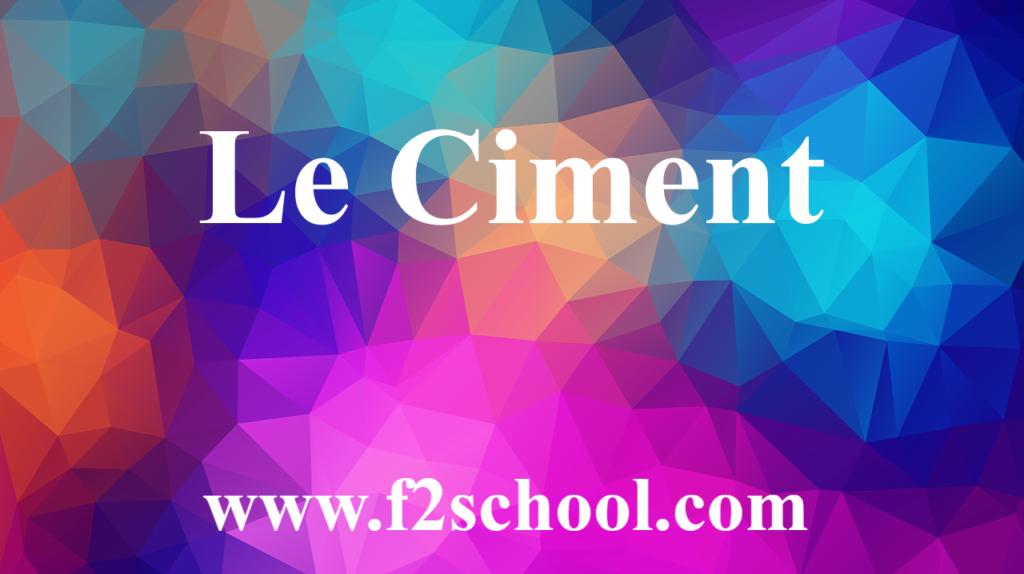 Ciment - Génie civil