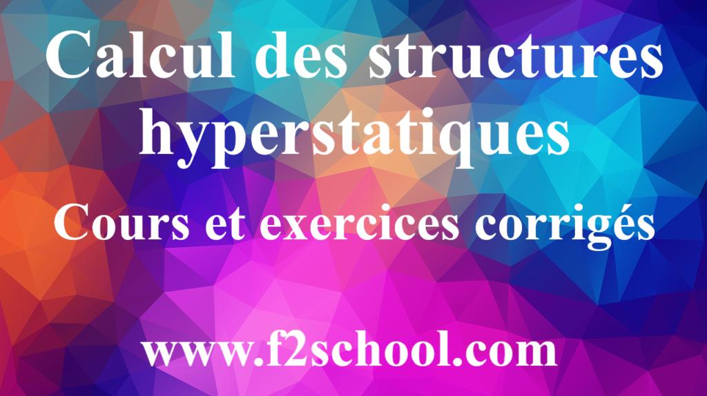 Calcul des structures hyperstatiques: cours et exercices