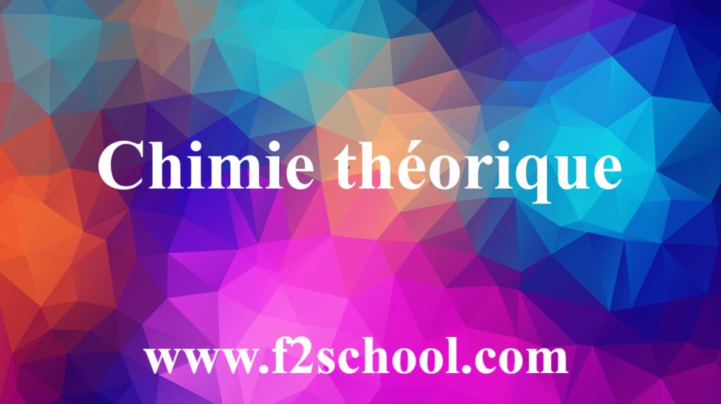 Chimie théorique - cours