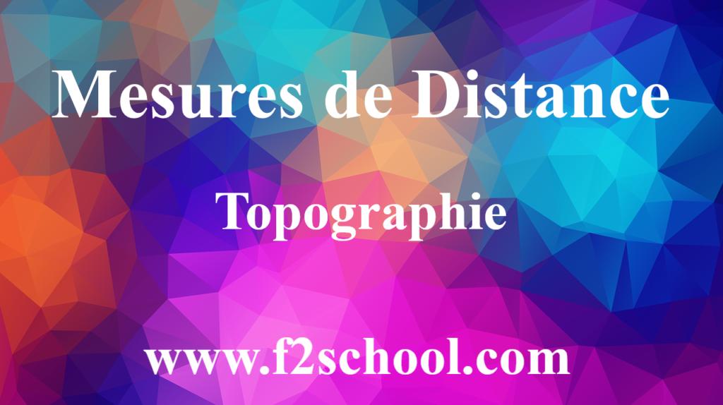 Mesures de Distance - Cours - Topographie