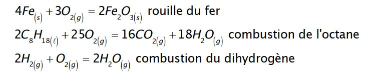 Oxydoréduction exemple