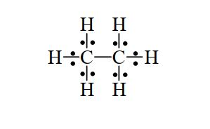 Liaison covalente - exemple - CH3-CH3 (éthane)