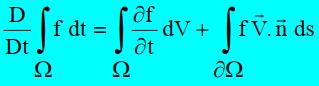 Théorème du transport - Théorème de Reynolds-Turbomachine